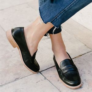 Madewell Elinor Leather Loafers black Size 10